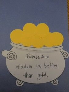 proverbs 1616 wisdom is better than gold fun st patricks day lesson for childrens ministry