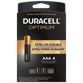 Duracell Optimum Aaa Batteries 4 Pack Duracell Batteries Optima Battery