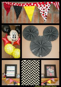 Mickey Mouse birthday party decorations at Walt Disney World