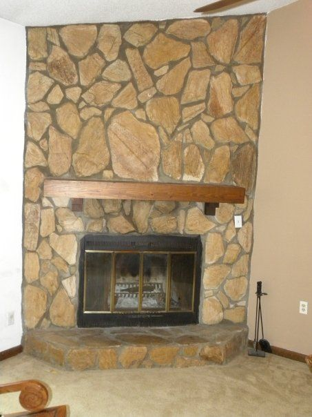 Update 1970 S Fireplace Stones