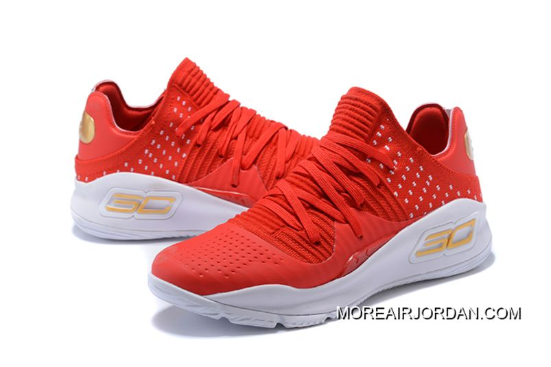 05986c32c175 Best Under Armour Curry 4 Low Red White Men s Basketball Shoes ...