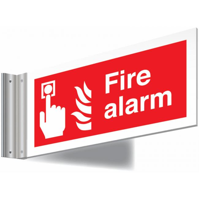 Fire Alarm Double Sided Corridor Signs Fire alarm