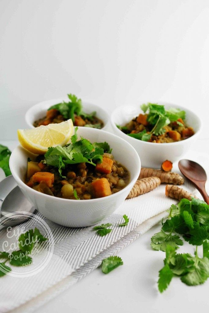 Indian style lentil stew - Dhal (vegan, paleo, gluten-free) #healthy