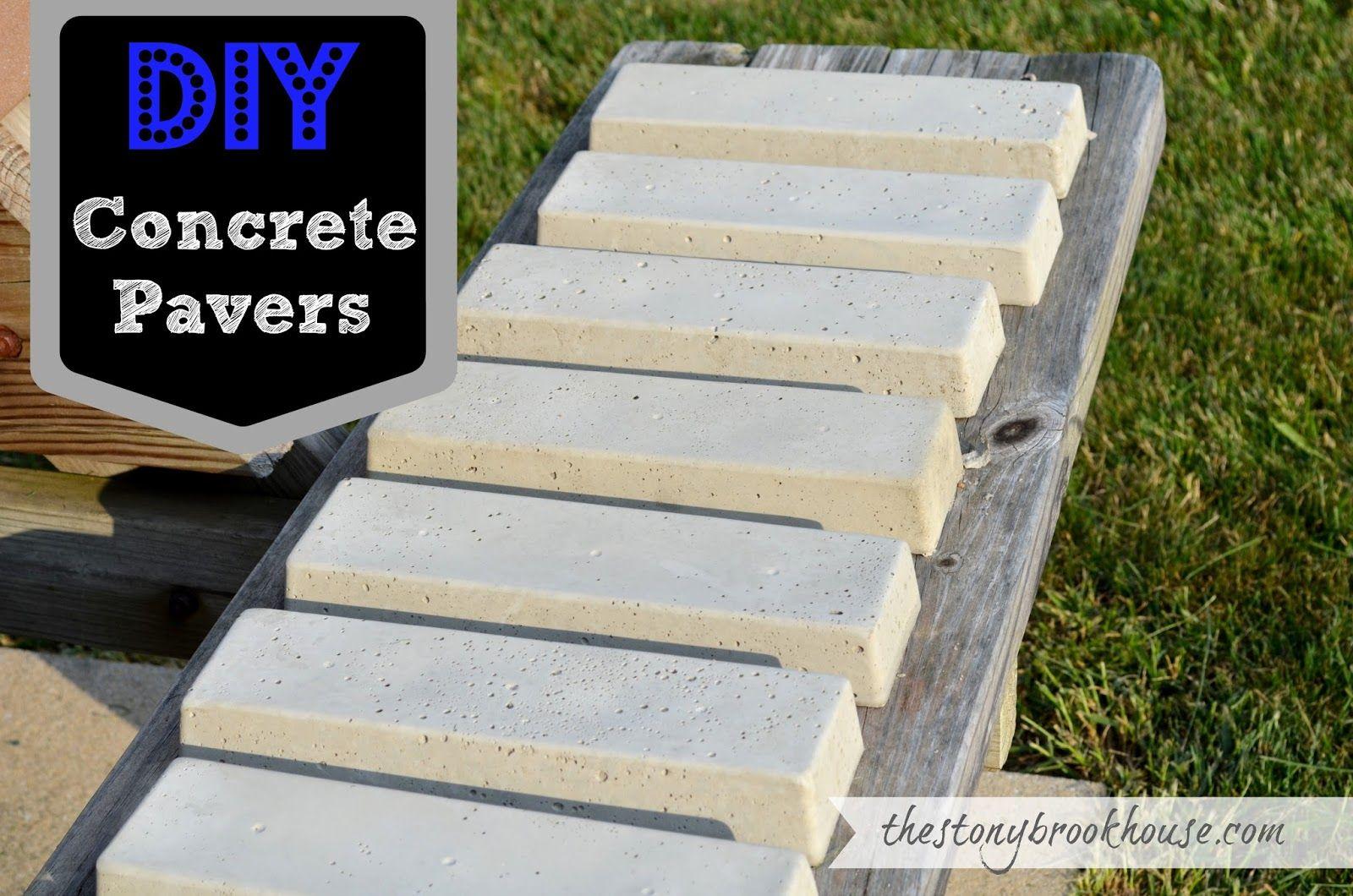 Diy concrete pavers concrete garden concrete pavers