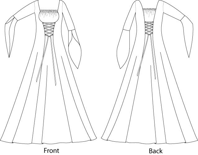 CD/Digital) Medieval Costume Fancy Dress Sewing Pattern 8-22 | Garb ...