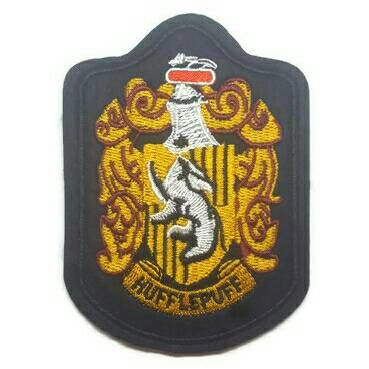1pc Harry Potter Hufflepuff Badge Hogwarts Embroidered Sewing