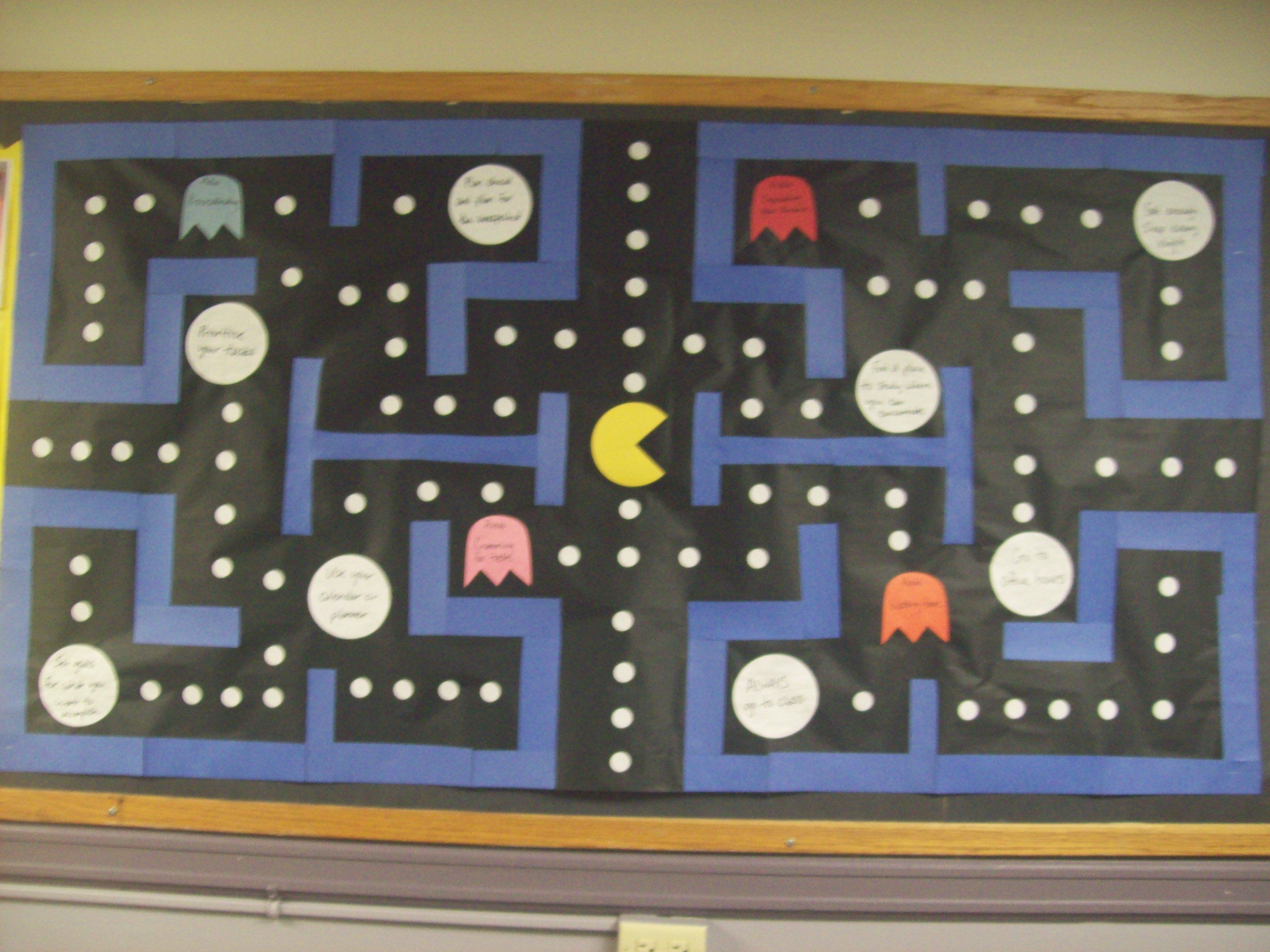 Pac Man Bulletin Board Would Go Great With Pac Man Door Decs No