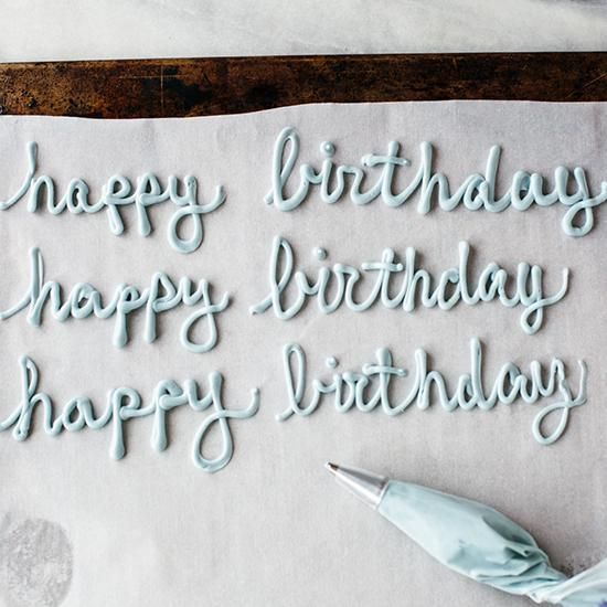 13 cake Decorating writing
