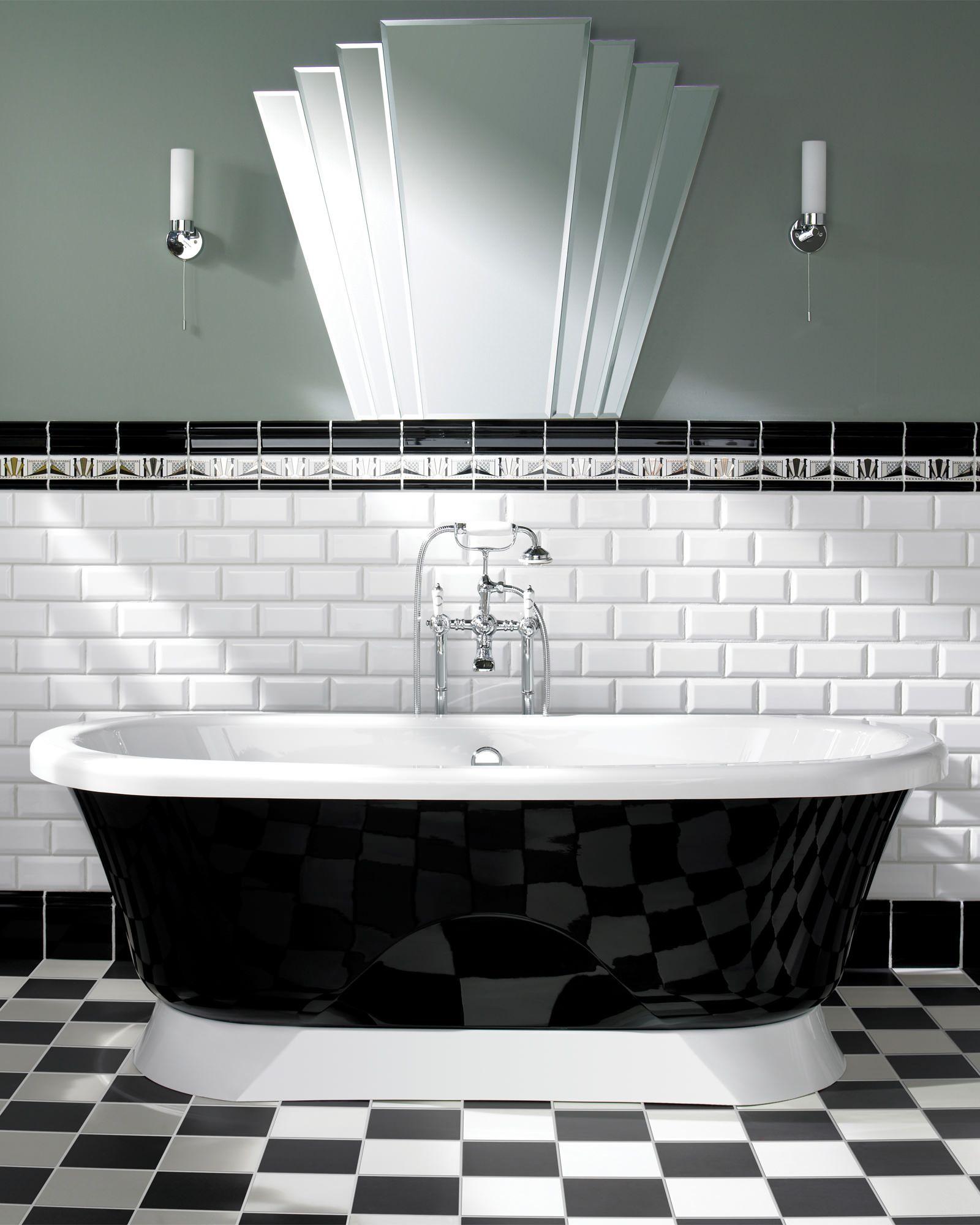 Silverdale Freestanding Black Bath On Plinth