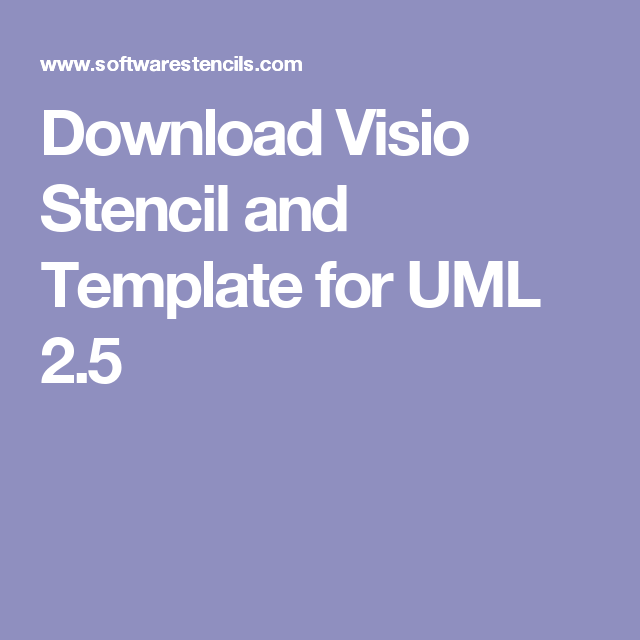 Download Visio Stencil and Template for UML 2 5 | Kellyjo's