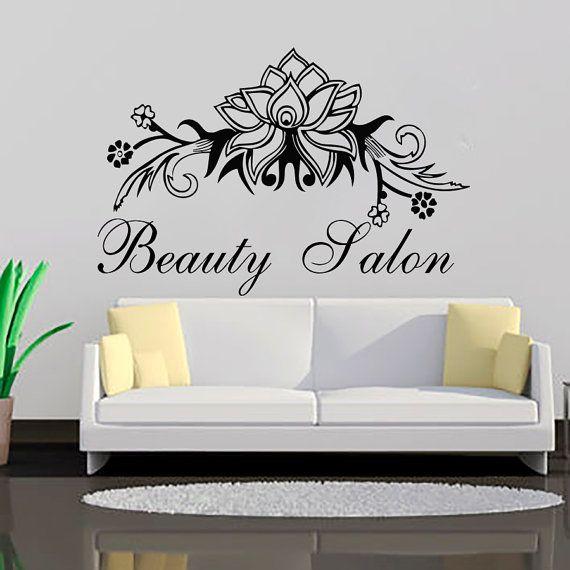 Wall Decal Beauty Salon Decals Vinyl Sticker Flowers Home Decor