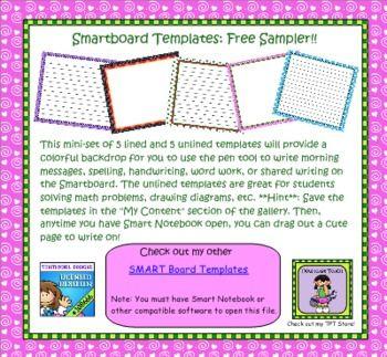 Free Smart Board Templates Smart Board Lessons Smart Board