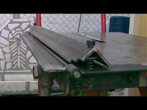 Sheet Metal Bender Brake The Make First Use Stainless Steel Bbq Youtube Sheet Metal Bender Metal Bender Sheet Metal