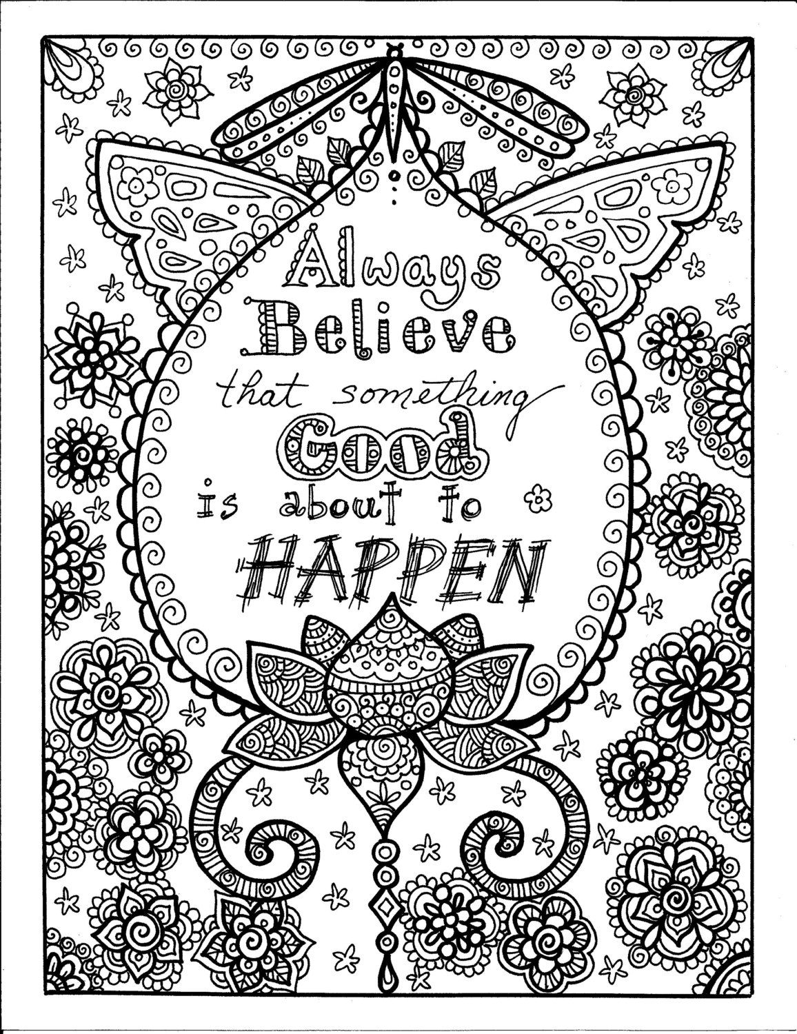 instant download be brave coloring book by chubbymermaid