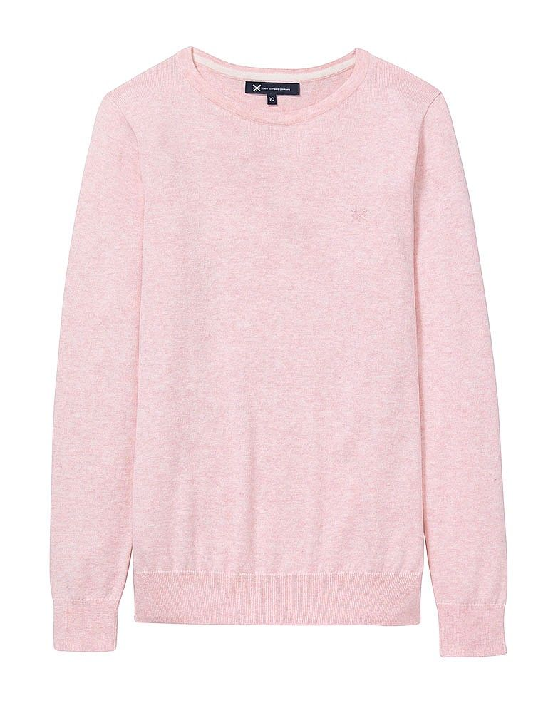 27a8ca78090a Women s Foxy Crew Neck Jumper in Classic Pink Marl from Crew Clothing
