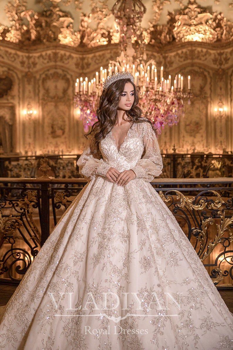 Luxury Princess Fairytale Ball Gown Wedding Dress Bridal Gown Etsy Ball Gowns Fairy Tale Wedding Dress Ball Gowns Wedding [ 1191 x 794 Pixel ]