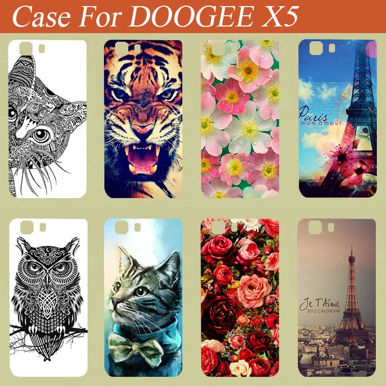 Hot Soft tpu DOOGEE X5 Case Cover New arrivel Diy Painting colored Case cover skin sheer for DOOGEE X5 for free Shipping