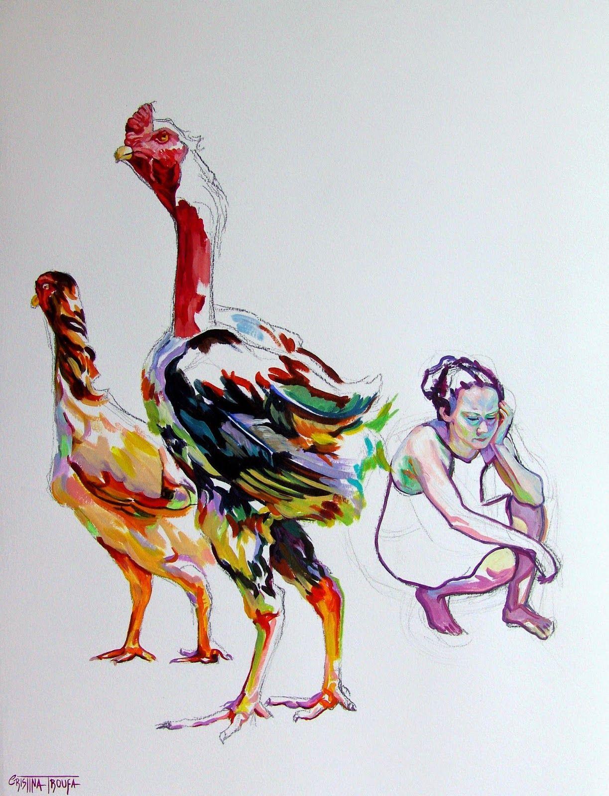 Cristina Troufa - Contemporary Artist - Figurative Painting - Galo #2 - 2014