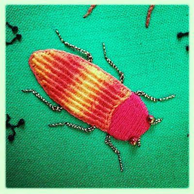 Stumpwork Jewel beetle.