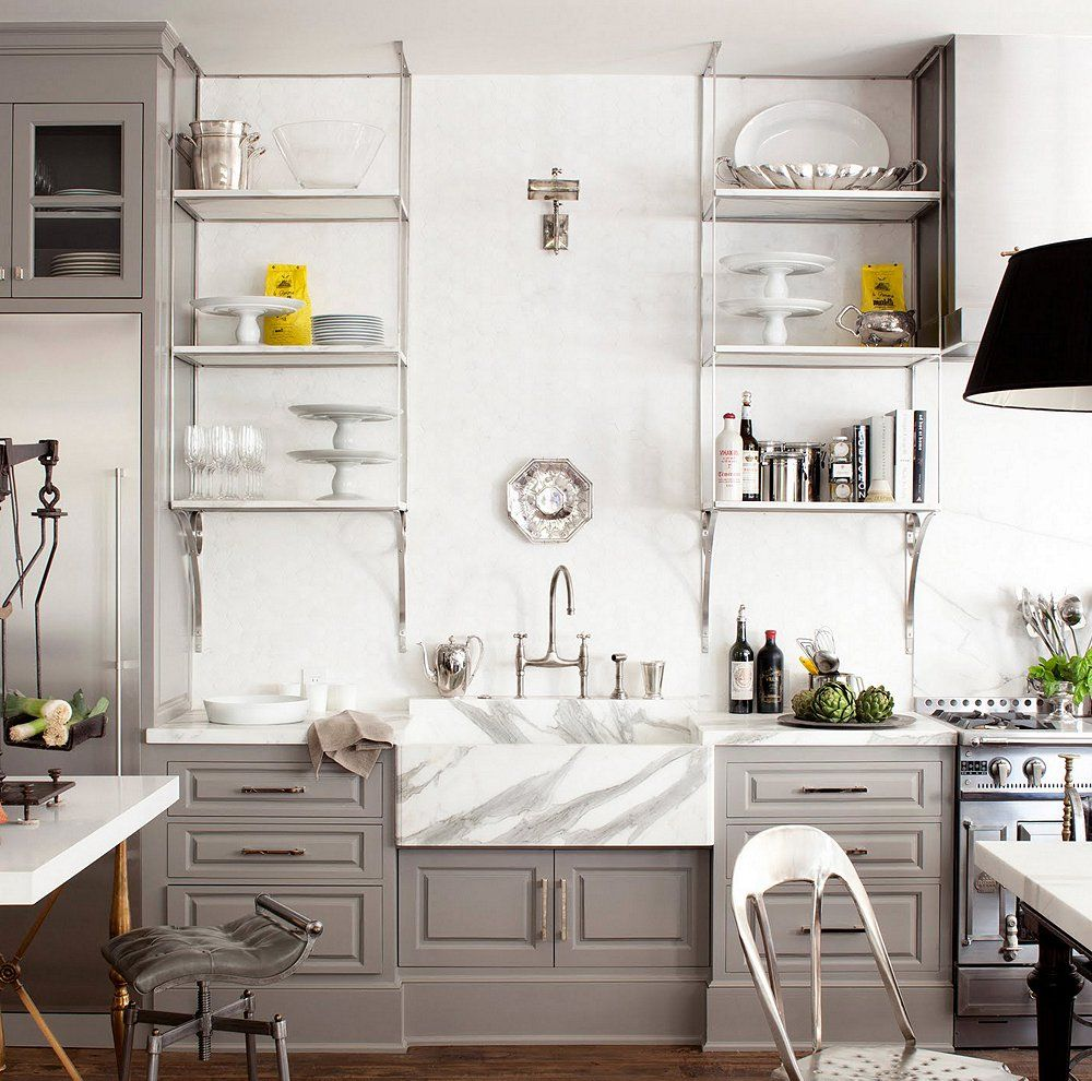 Kitchen Sink open kitchen sink pictures : 10 Gorgeous Takes on the Open Shelving Trend | Open shelving ...