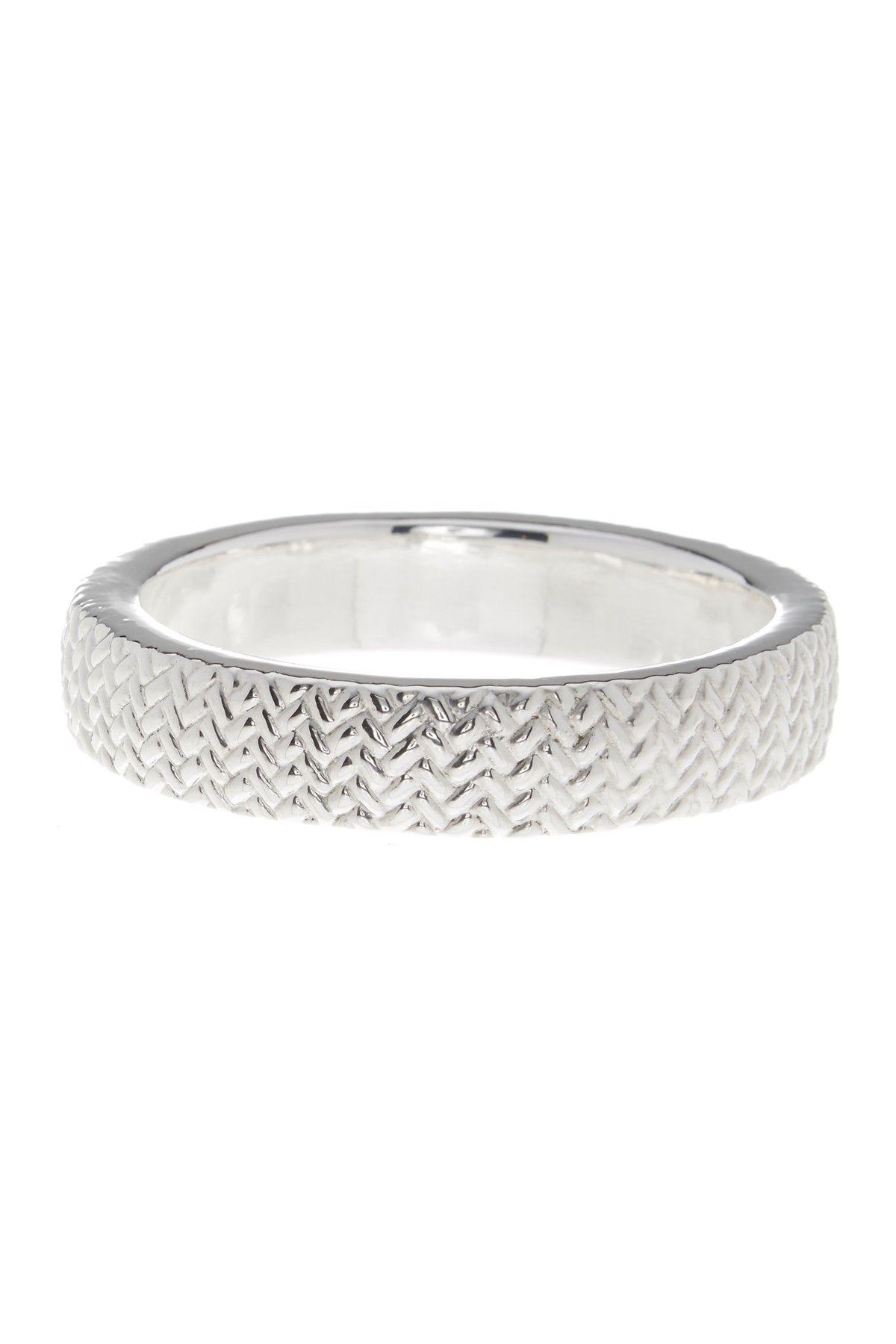 Sterling Silver Textured Medium Bangle