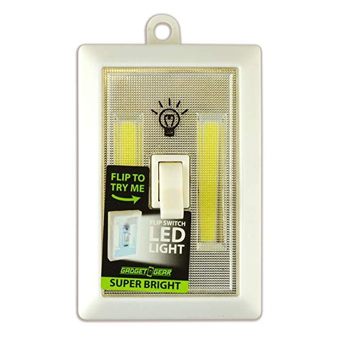 Super Bright LED Flip Switch Cordless Light, Battery