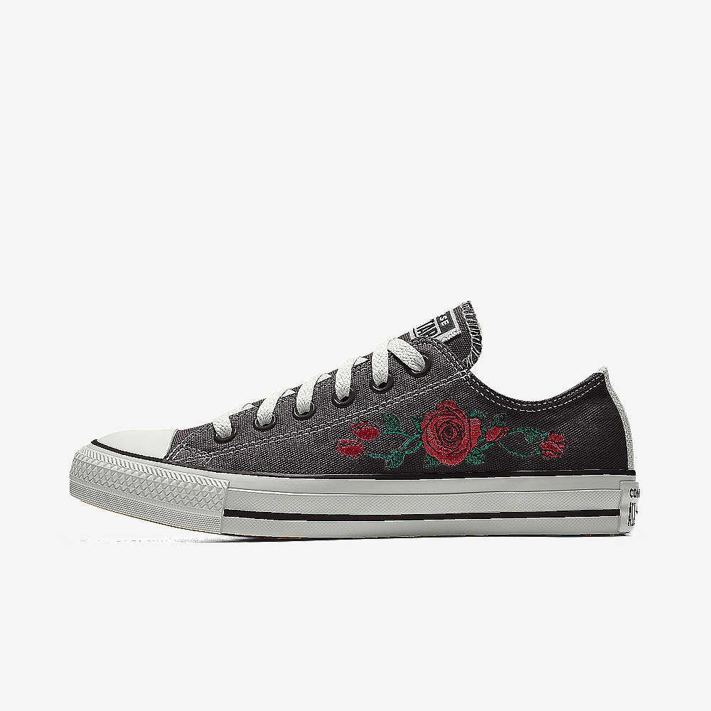 7992d6e45716 Converse Custom Chuck Taylor All Star Rose Embroidery Low Top Shoe. Nike.com