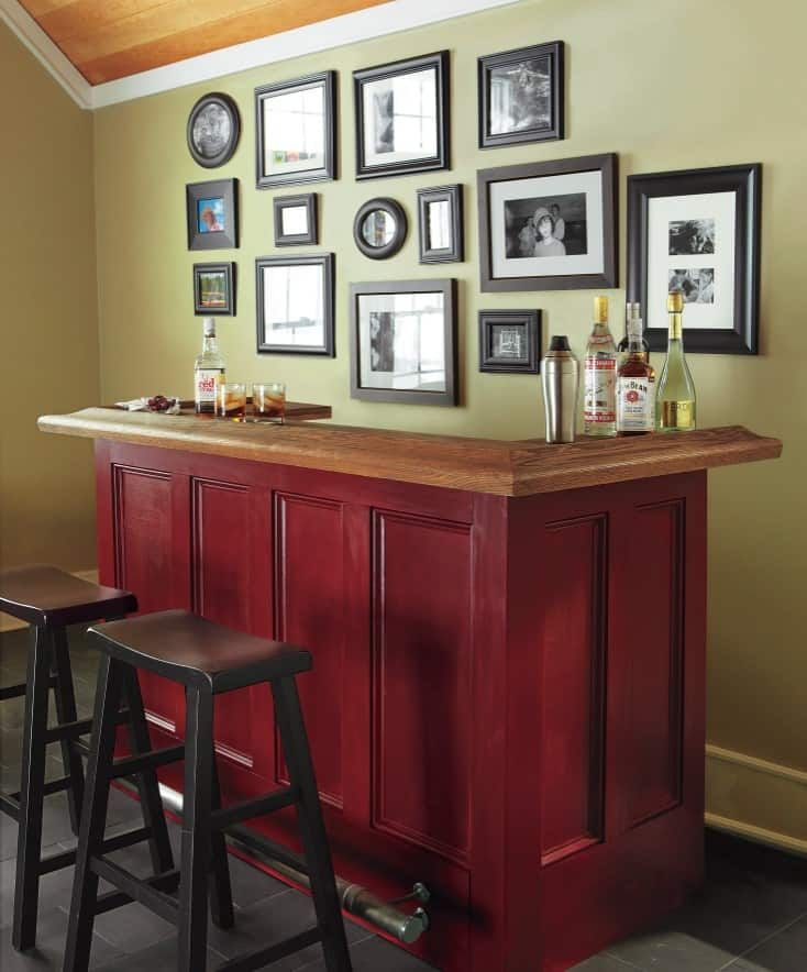 how to make a home bar for cheap