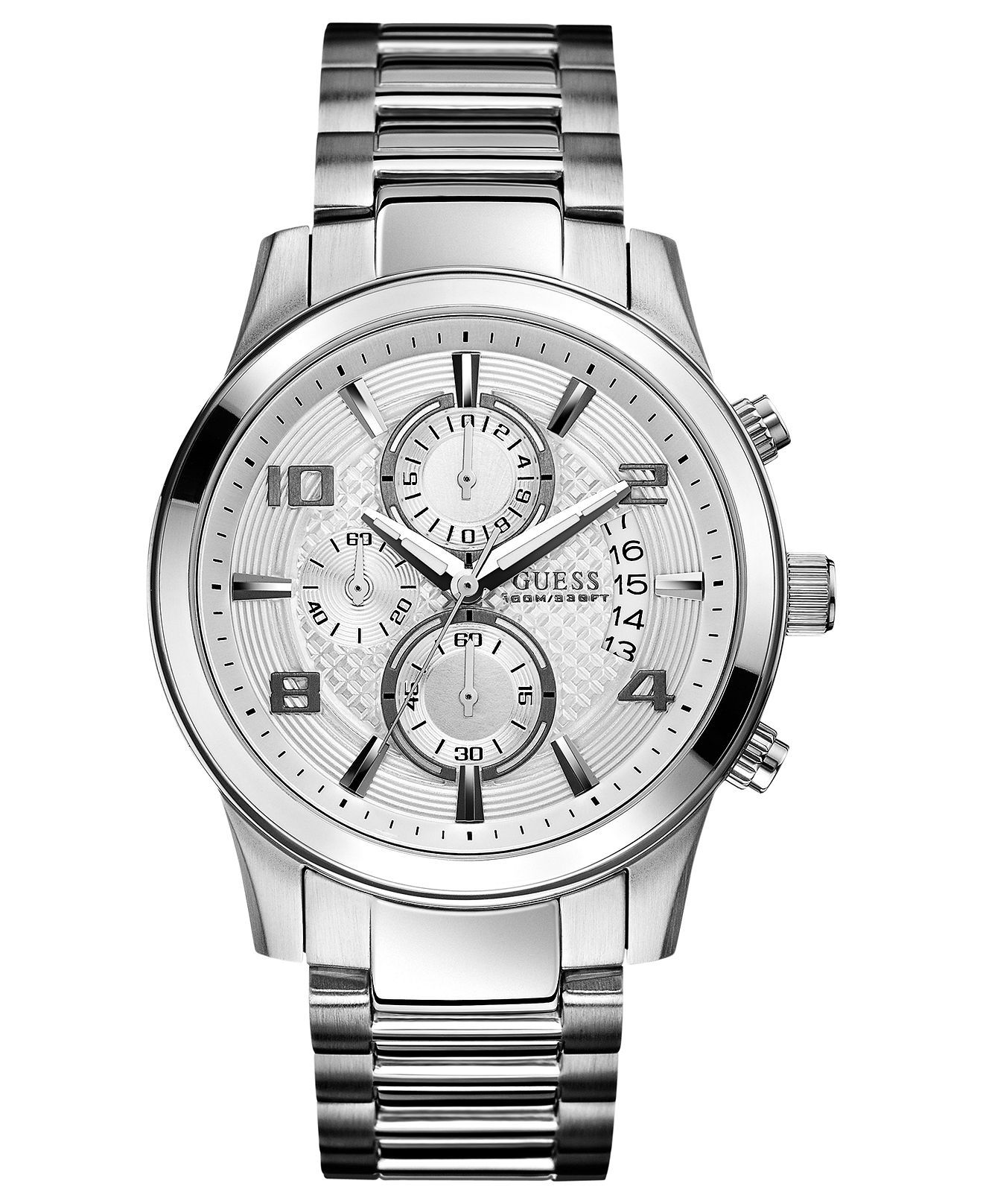 Guess Watch, Men's Chronograph Stainless Steel Bracelet 44mm U0075g3  All  Watches  Jewelry &