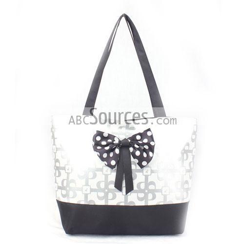 Black ; Silver Tote Bags, Cheap Hand Bag, Shoulder Bags