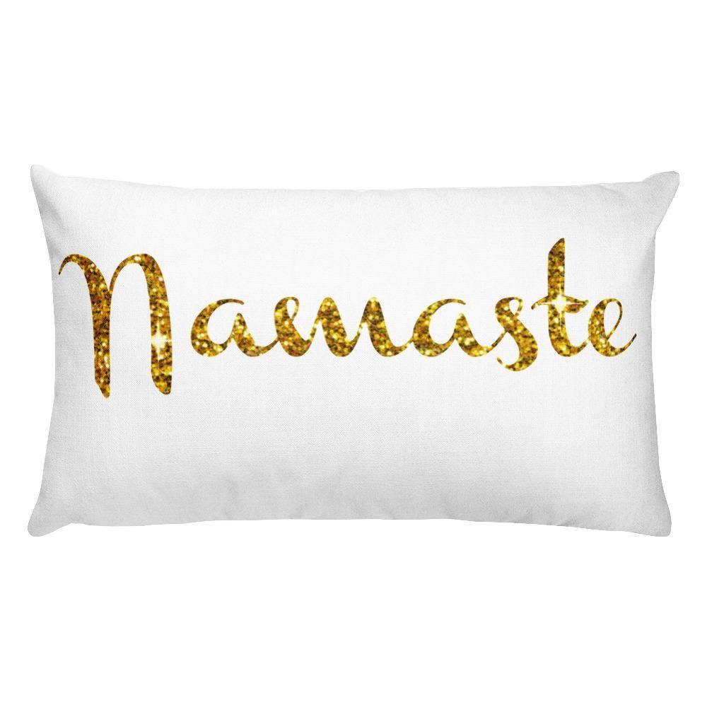 Namaste pillow gold decor rectangular pillow