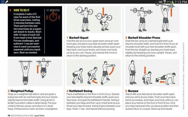 Green Beret Series Workout