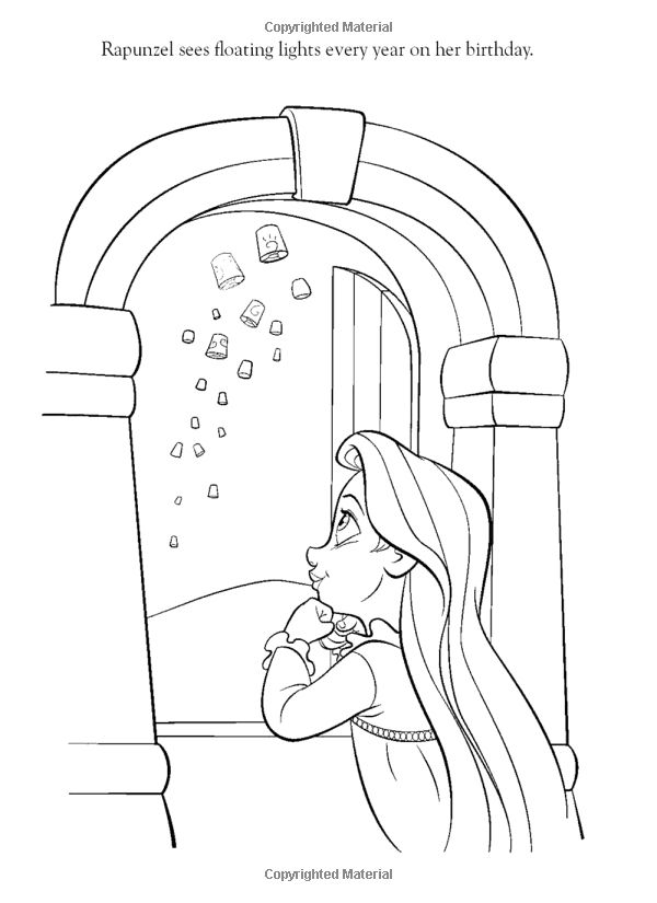 Coloring Pages For Rapunzel : The best disney tangled rapunzel coloring pages tangled
