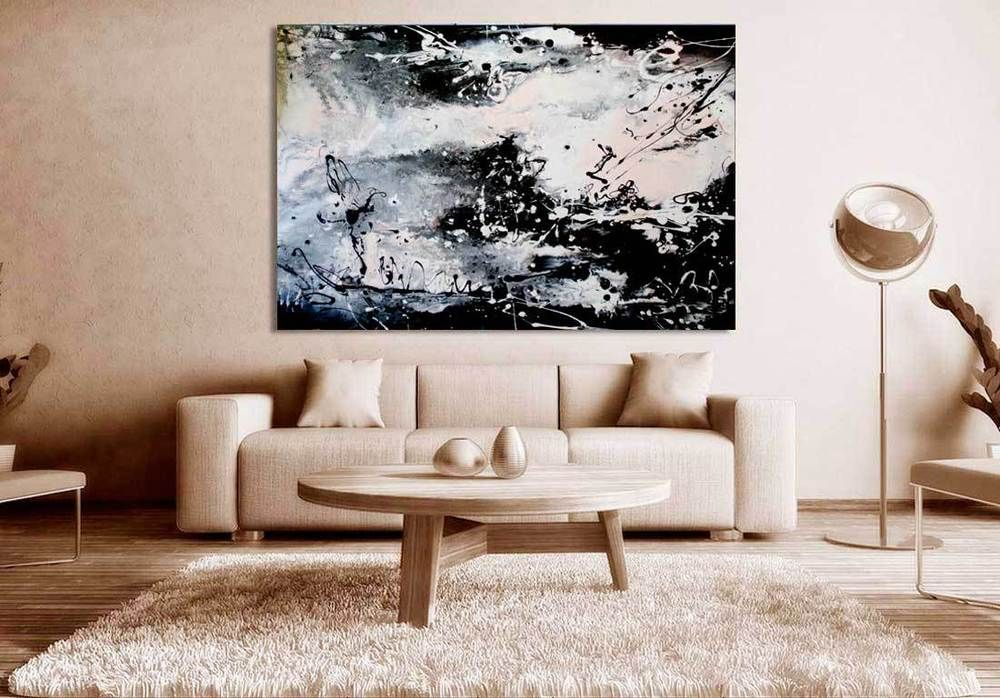 Wandbild «Snowstorm» Bild Aufhängeset Kunstdruck Leinwand Acryl Forex MK1010 WDS