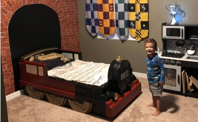 At Home Imagineering Hogwarts Express Bed Diy Potter Project