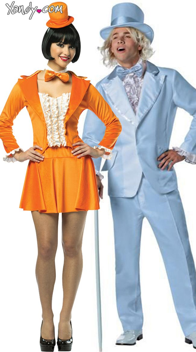 cd25fc49830 Officially Licensed Harry And Lloyd Tuxedo Couples Costume, Dumb and Dumber  Couples Halloween Costume, Dumb and Dumber Orange Tuxedo Dress
