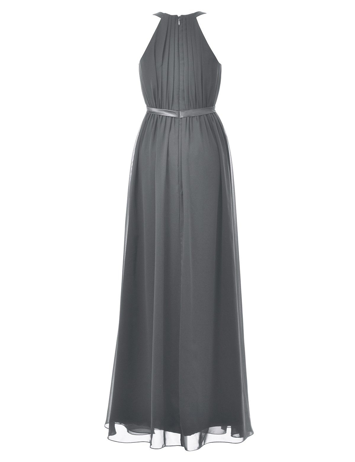 Alicepub long bridesmaid chiffon dress halter evening gowns for