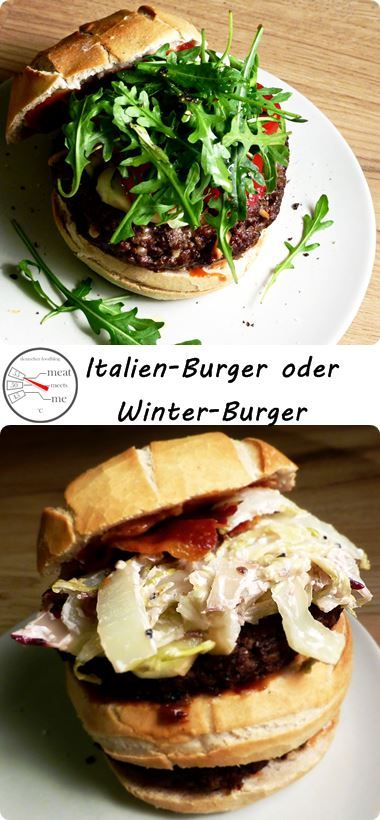Italien-Burger oder Double-Winter-Burger #Rezepte #Burger