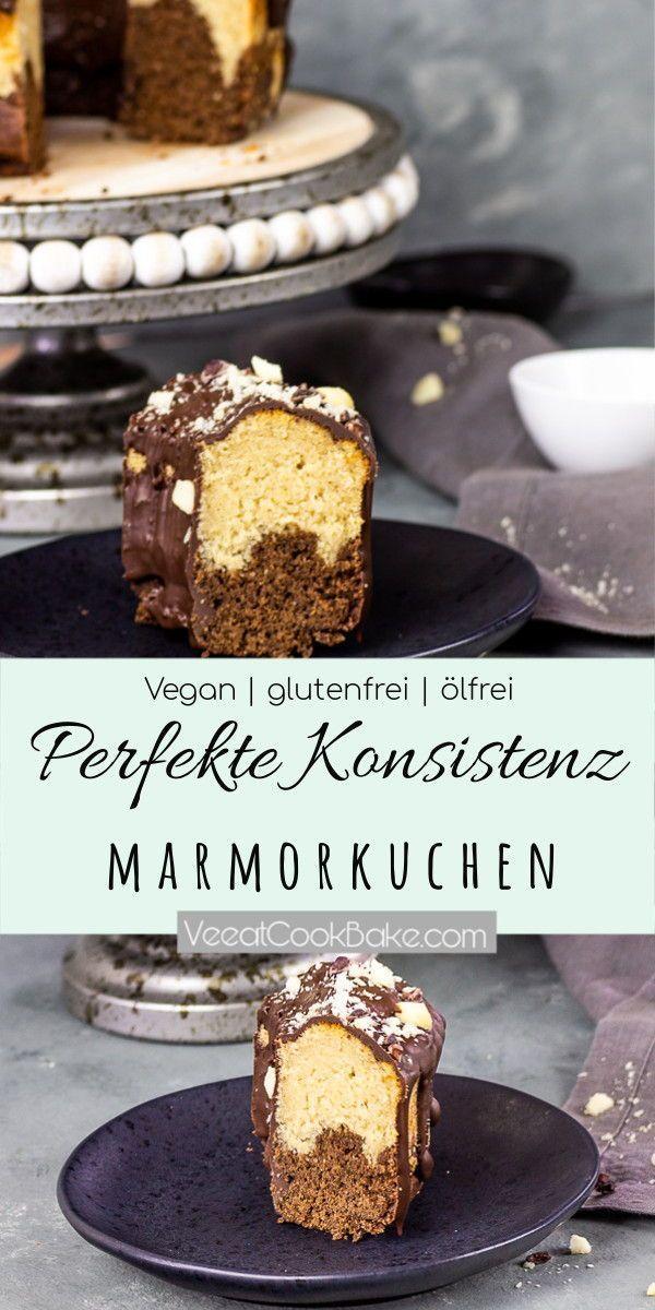Veganer Marmorkuchen (glutenfrei, ölfrei) - Ve Eat Cook Bake #glutenfreebreakfasts