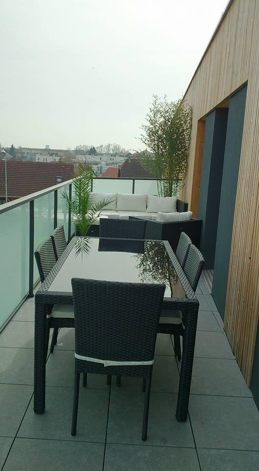 Bergamo : salon de jardin 6 places en résine tressée #terrasse ...
