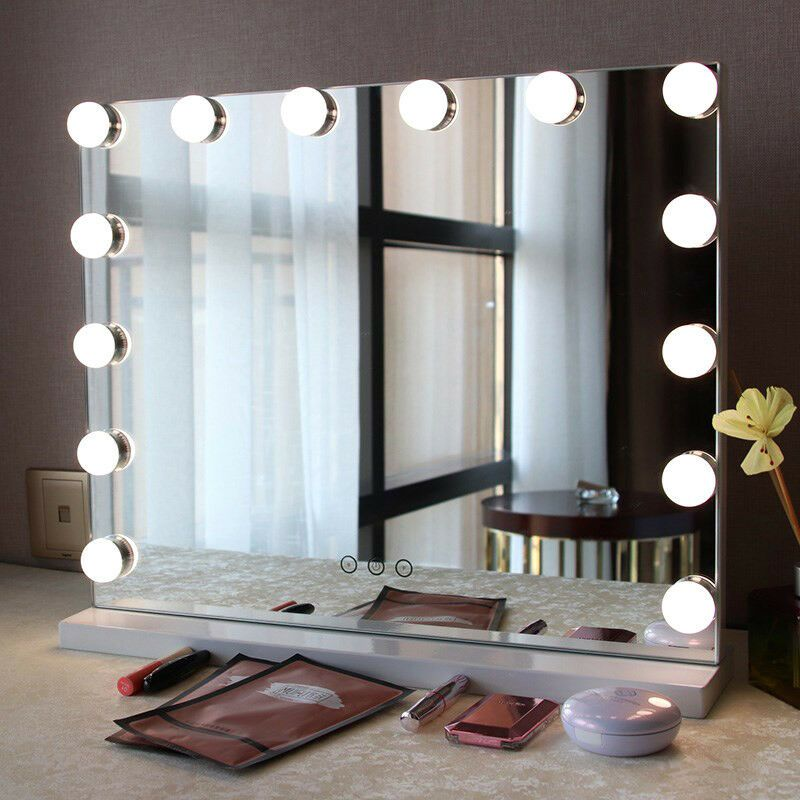 Usb Led Light Mirror Bulb For Dressing Table Wall Lamp W Dimmable Touch Control Affili Hollywood Mirror With Lights Mirror With Led Lights Mirror With Lights