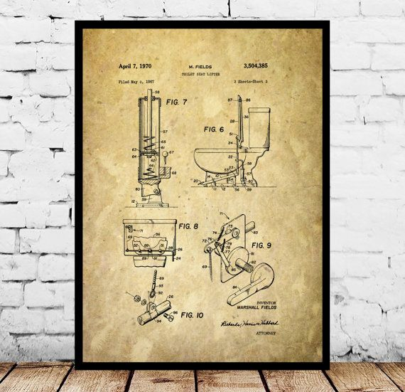 Toilet Patent, Bathroom Patent, Toilet Poster, Bathroom Poster - new blueprint software ios