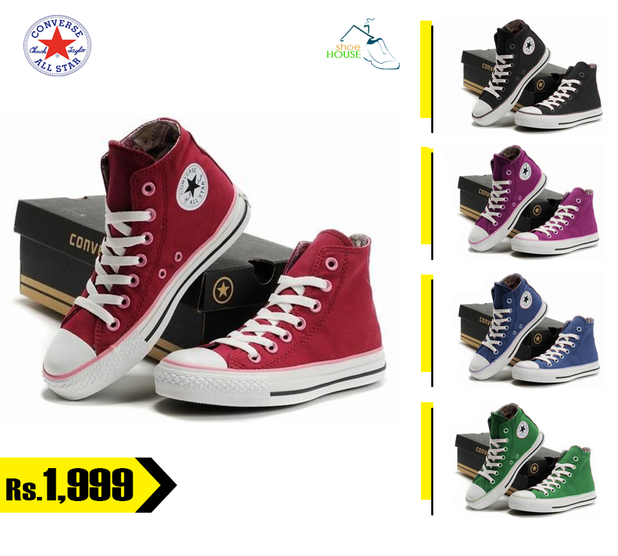 Converse All Star Shoes in Rs. 1,999 only. FREE Shipment to anywhere in  Pakistan
