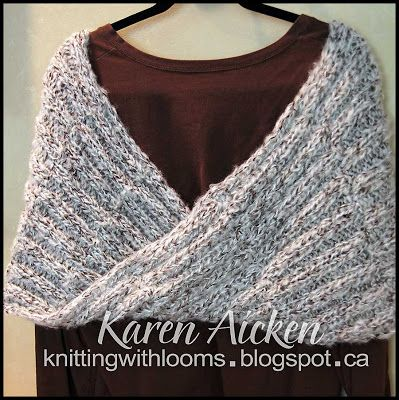Knitting With Looms: Finished Mobius Shawl   Loom Knitting ...