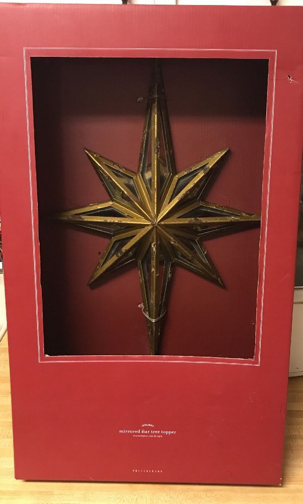 Pottery Barn Mirrored Star Tree Topper New Sold Out At Pb