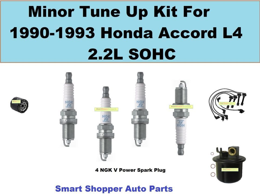Tune Up Kit For 1990-1993 Honda Accord L4 Spark Plug, Wire ...  Accord Fuel Filter Location on