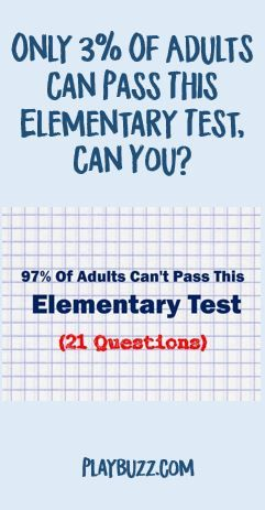 Only 3% Of Adults Can Pass This Elementary Test, Can You? | General