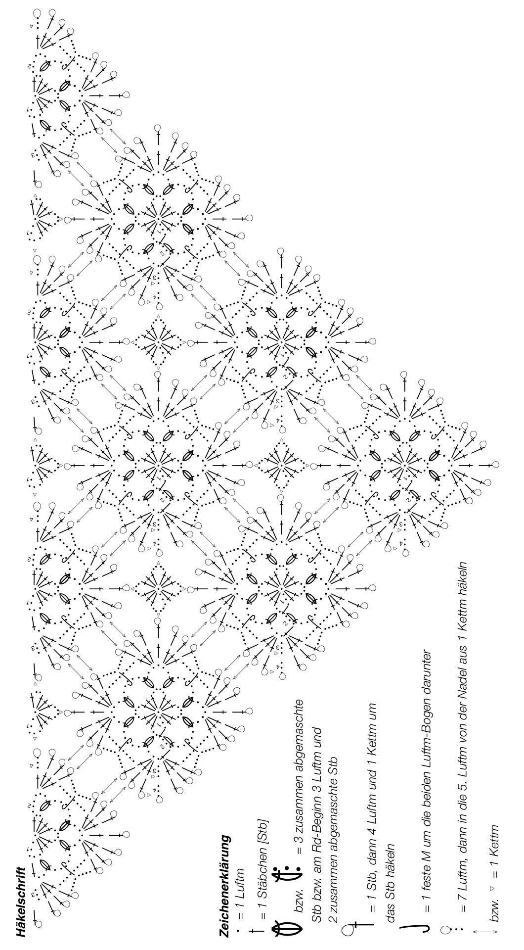 Feines gehäkeltes Dreieckstuch - kostenlose Häkelanleitung
