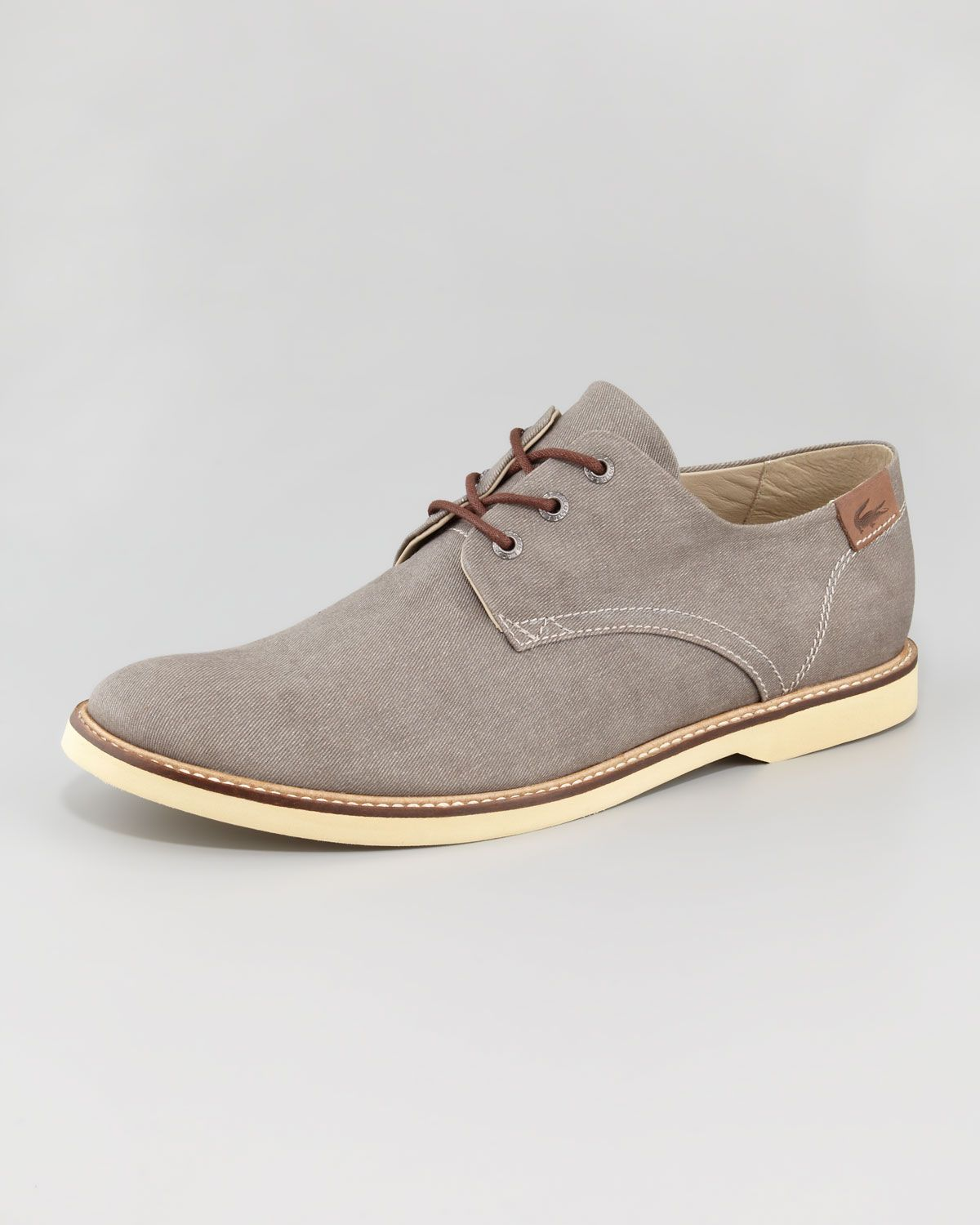 db30fe90f5f2c7 Lacoste Sherbrooke Canvas Lace-Up Shoe