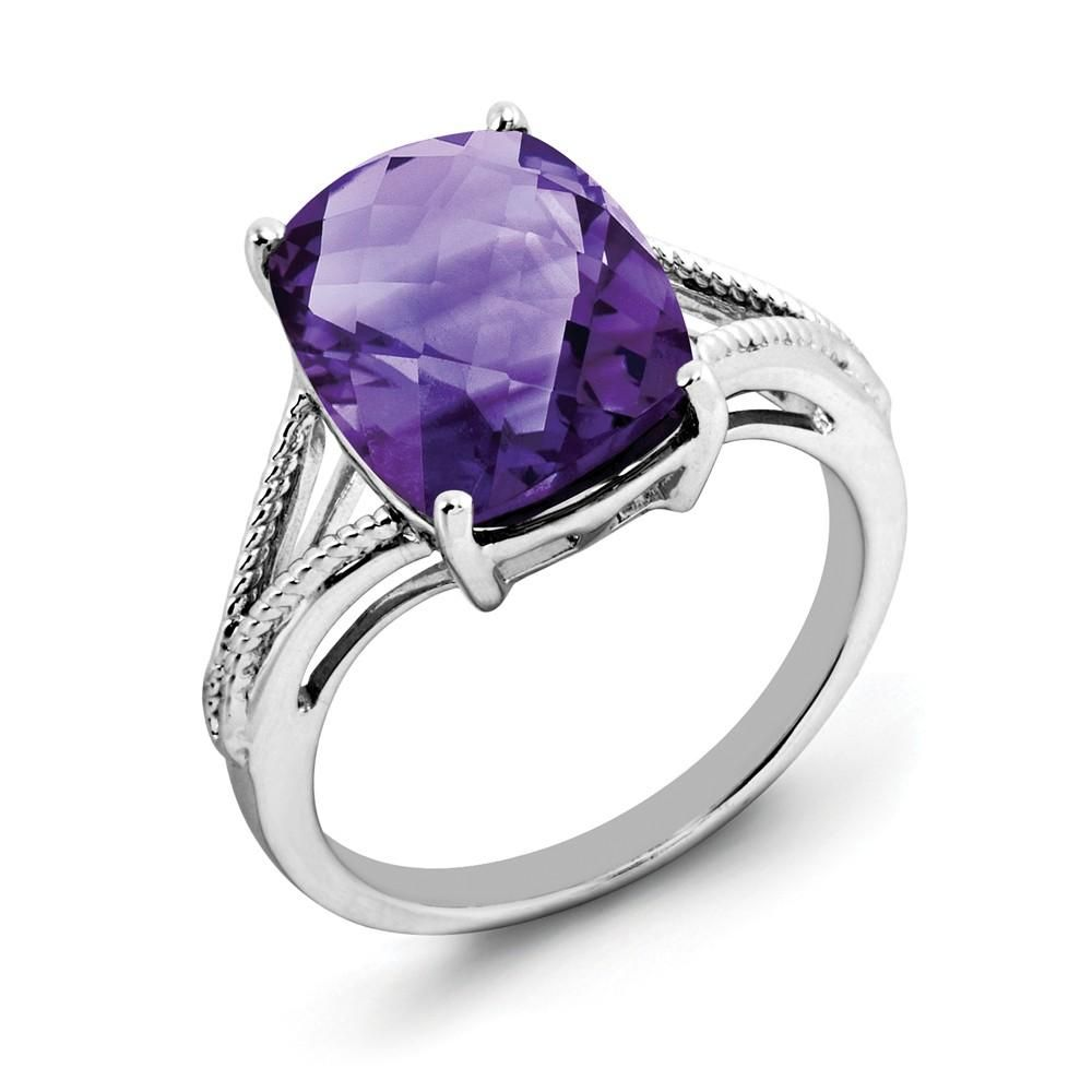 2.00 Ct Purple Heart Cut Amethyst Nickel Free Beautiful And Simple Engagement Gift For Wife Birthstone Month-February Blue Topaz And White Topaz 925 Sterling Silver Wedding Ring For Women